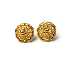 gold earrings tops beautiful ear tops at rs 9200 gold earrings id 14450281088
