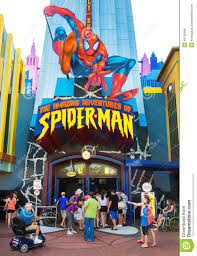 Universal Park Orlando Map by Spiderman Ride At Universal Studios Islands Of Adventure Editorial