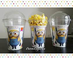 minion party favors minion cups etsy