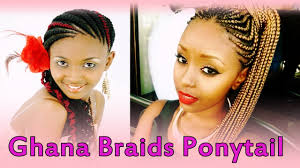 black women braided hairstyles 2012 lovely ghana braids ponytail hairstyles for black women youtube