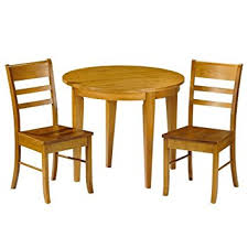 Small Round Fold Up Kitchen Table And Chairs In Pine Amazoncouk - Small pine kitchen table