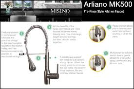 kraus commercial pre rinse chrome kitchen faucet faucet com mno500bcp in polished chrome by miseno