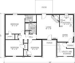 3 bedroom 2 bathroom house plans fashionable design ideas 11 back and front porch with house plans