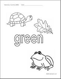 Coloring Pages Green Abcteach Green Coloring Page
