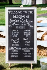 wedding program sign pretty pastel farm wedding inspiration