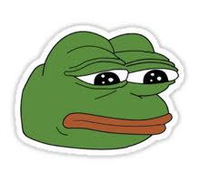 Meme Sticker - funny sad frog meme xdddd stickers by grimlockandslag redbubble