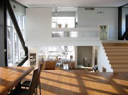 bi level homes interior design floating structure modern house design with industrial style