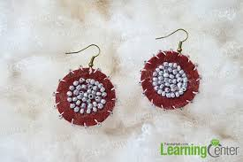 make dangle earrings how to make dangle earrings with seed in ethnic style
