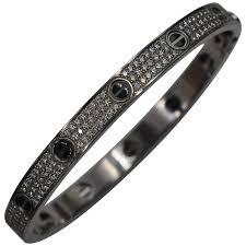 diamond love bracelet images Cartier pave diamond black ceramic gold love bracelet at 1stdibs jpg