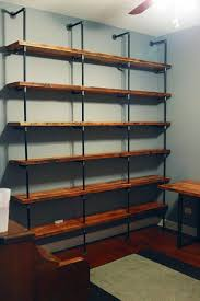 Diy Restoration Hardware Reclaimed Wood Shelf by Would Prefer Something To This Effect For The Shelves Behind The