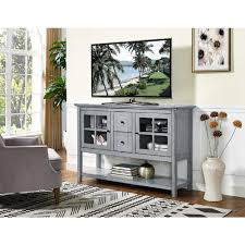 Console Table For Living Room by Walker Edison Furniture Company 52 In Antique Grey Wood Console