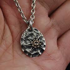 silver photo pendant necklace images Japan gothic jewelry indiana goro style sun tolem 925 sterling jpg