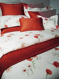 poppies red bedding by revelle bedspread poppies and poppy red