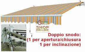 tenda da sole prezzi da sole con braccia retrattili gialla grigio cm 295x200