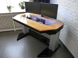 Height Of A Computer Desk Adjustable Height Computer Desk Casemod Deserves A Standing
