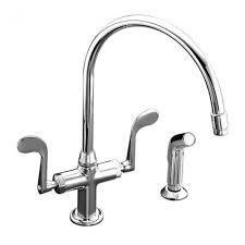 2 kitchen faucet kohler essex 2 handle standard kitchen faucet with side sprayer in