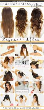 how to ambray hair how to color hair at home caramel brown ombre
