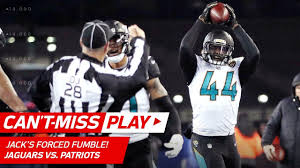jack s pats crazy trick play ends w myles jack s forced fumble can t