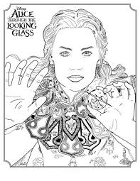 kids fun 5 coloring pages alice glass