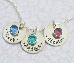 necklace with name and birthstone birthstone necklace personalized sted necklace