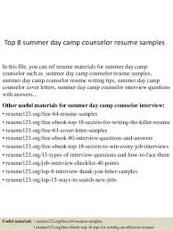 Sample Resume For Camp Counselor Day Camp Director Cover Letter