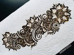 Flower Designs For Drawing Freehand Henna Mehndi Design 3 How To Draw A Simple Flower