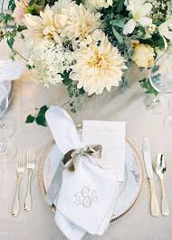 white and gold wedding table settings elegant neutral fall ideas