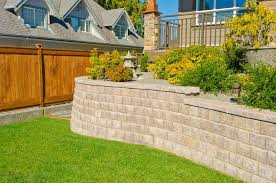 Retaining Wall Landscaping Ideas Landscape Retaining Wall Blocks Design Home Ideas Pictures
