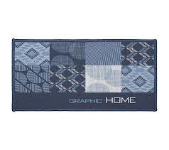 tapis cuisine tapis cuisine 57x115 dalea bleu tapis de cuisine but