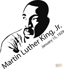 martin luther king coloring page free printable coloring pages