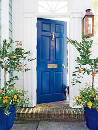are blue and black colors good feng shui for your front door