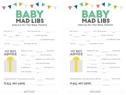 baby mad libs baby shower printables