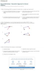 quiz u0026 worksheet geometric approach to vector addition study com