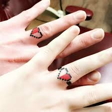 wedding rings wedding ring tattoos couples the creation of