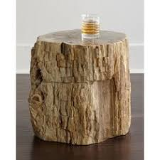 bernhardt petrified wood side table palecek everest petrified wood table 1 299 liked on polyvore