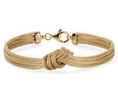 bracelet gold love images Love knot mesh bracelet in 14k yellow gold blue nile