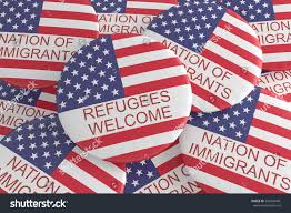 Flags Of Nations Us News Concept Badge Nation Immigrants Stock Illustration