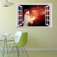 creative christmas old man fireworks 3d home decoration wall