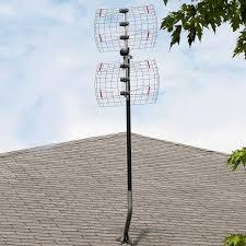 Hd Antenna Map Amazon Com 4 Element Bowtie Indoor Outdoor Hdtv Antenna 60 Mile