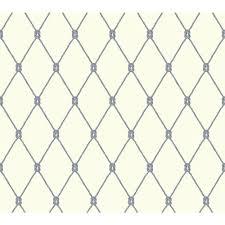 york wallcoverings nautical living knot trellis wallpaper ny4846