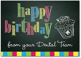 chalkboard birthday card birthday cards dental patient greetings high quality wide