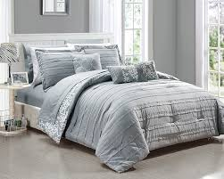Grey Comforter Sets King Amazon Com Chic Home 10 Piece Lea Complete Pleated Ruffles And