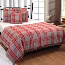 boutis canapé jeté de lit ou de canapé tartan et gris 225 x 255 cm achat