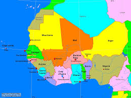 Cameroon Africa Map by Africa West Africa Political Map A Learning Family