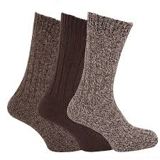 mens chunky boot socks with wool pack of 3 us shoe 7 12