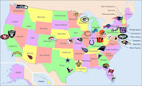 Delaware Map Usa by Map Of Nfl Teams American Football Photo Shared By Tiertza Fans