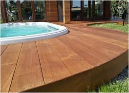 pool deck made of wood or wpc tips and design possibilities