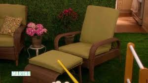 video outdoor patio furniture martha stewart