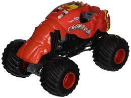 monster truck show at dodger stadium amazon com wheels monster jam 1 24 scale crushstation vehicle