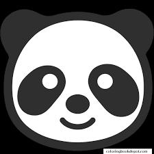 panda emoji coloring pages